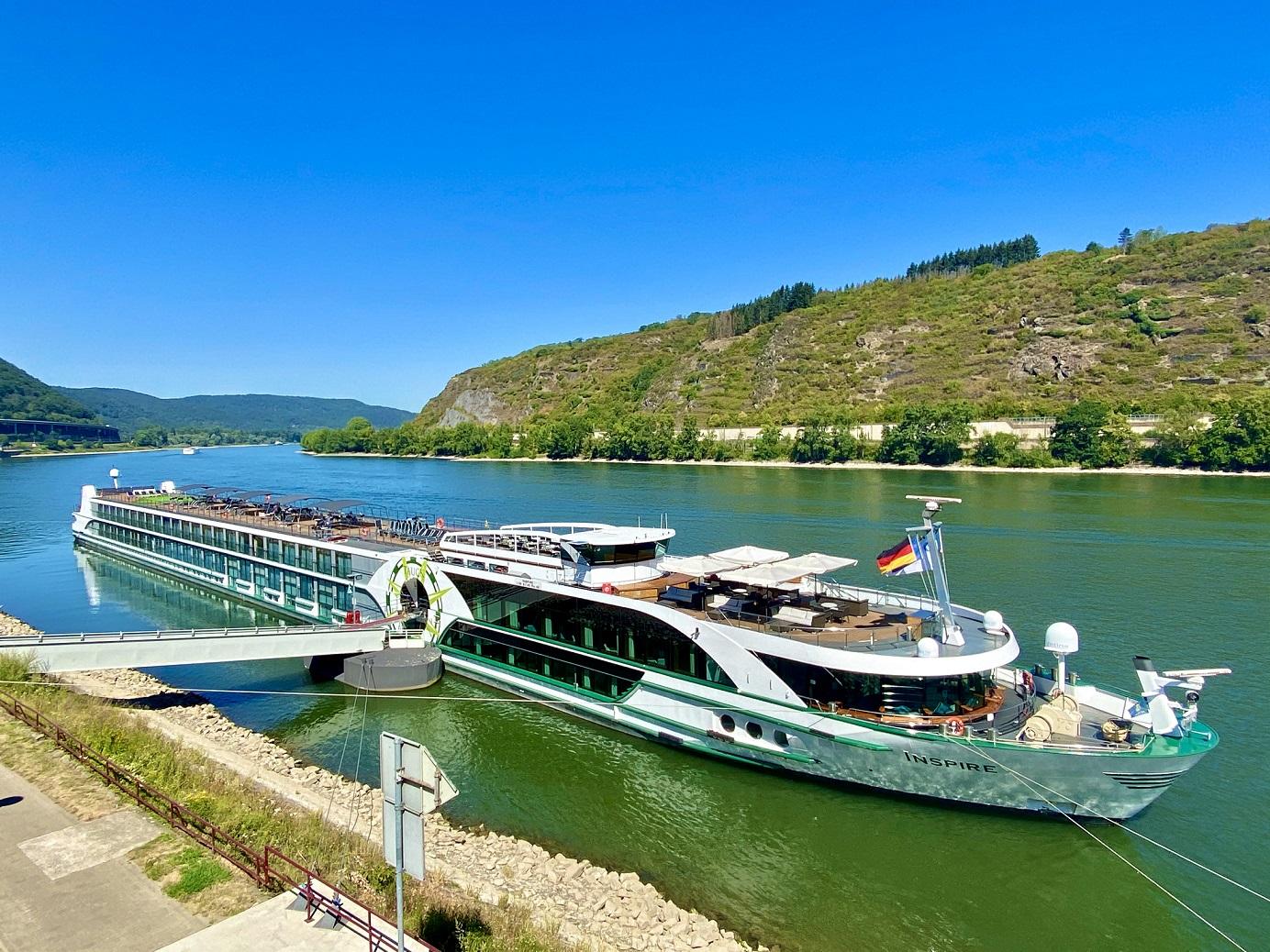 MS Inspire von Viva Cruises in Andernach.