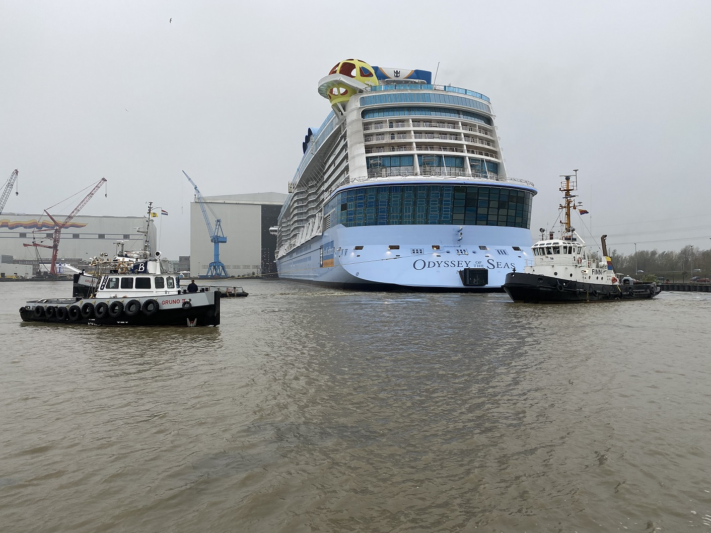 Odyssey of the Seas float-out. Foto: Christoph Assies