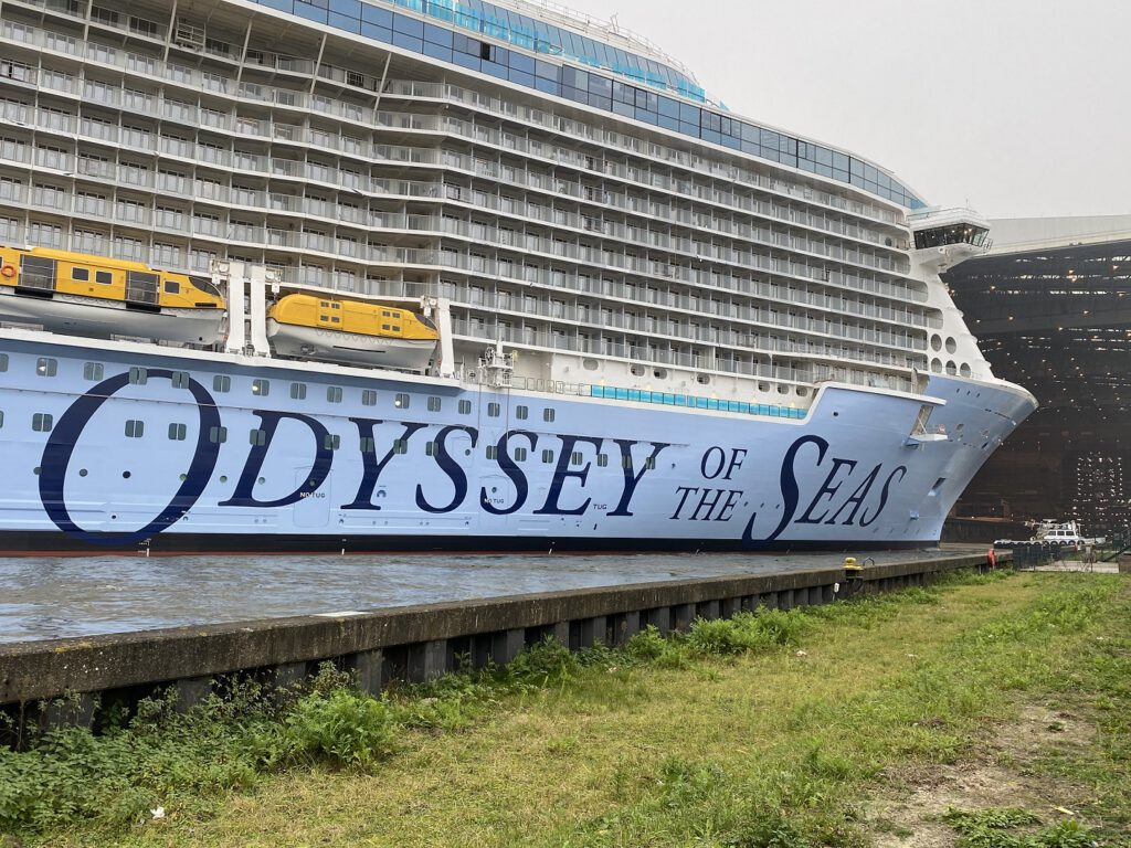 Float-out ODYSSEY OF THE SEAS. Foto: Christoph Assies