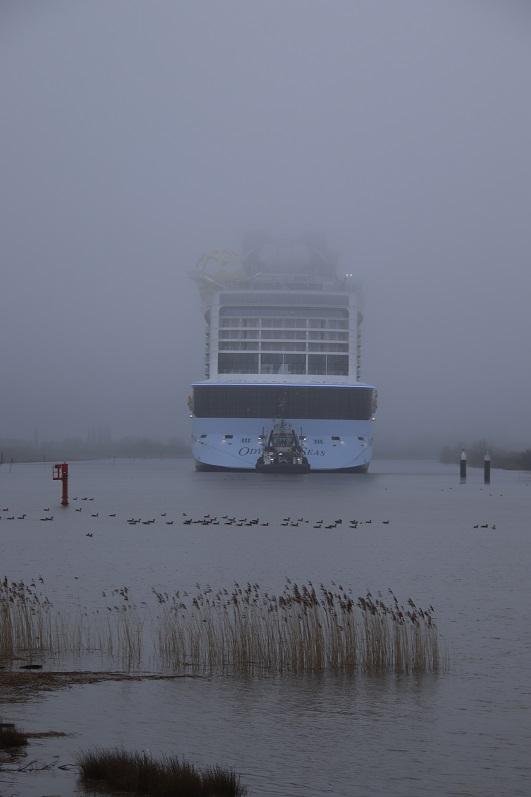 Am Samstagmorgen im Nebel kurz vor Weener. Foto: Christoph Assies