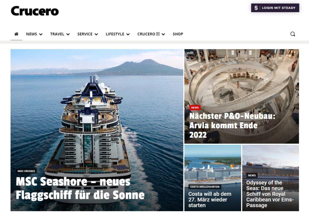 Preview CRUCERO-Magazin.de.
